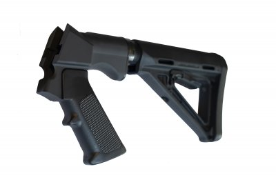 Browning Bar MK3 with the hand-cocking system-AR-adaptor-Cerakote Armor Black
